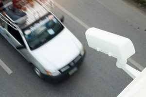 CCTV cameras installed on the road for traffic reports and speed